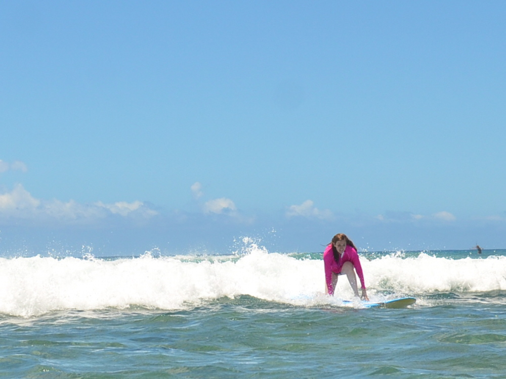 I eventually found some balance on the surfboard...
