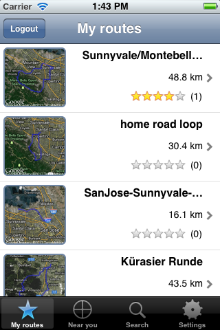 List your own route collection