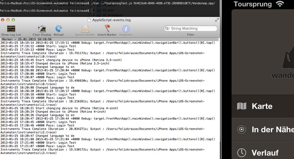 Automatic taking screenshots iOS