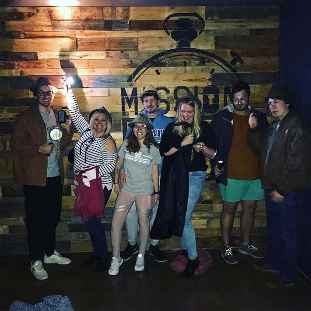 We had quite a wild time at Mission Escape: Atlanta last night! Partway through this family's game, the power went out!  Just when you thought the night was over, they wanted to keep playing. With the help of many flashlights, these detectives were able to escape the Study with over 20 minutes left! Way to go Detectives! No worries, our power is back on. Book a game with us today! #escaperoom #thingstodoinatlanta #games #attractions