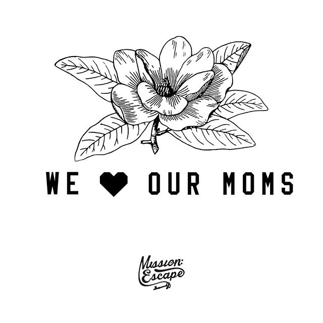 And if your mom loves escape rooms, or has always wanted to do one, we've got a mother's day treat for you! Take 25% off your booking May 10-12th by using the code WELOVEMOM. Apply this code at check out when booking online to redeem this offer! (Offer not valid for Private Games or Events.) #escaperoom #thingstodoinatlanta #atlanta #mothersday