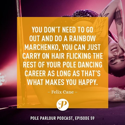 "Ain't that the truth! HAIR FLICKER 4 LIFE! 💁🏽‍♀️ Thanks for the reminder, @therealfelixcane! And if you haven't yet, check out Felix's full interview at PoleParlour.com or search ""Pole Parlour"" on YouTube, iTunes, Stitcher, or Soundcloud! 👯‍♀️ #pole #poledance #poledancer #poledancersofig #polelove #polelife #poleparlour #poleparlourpodcast #poleartist #poledanceinspiration #poledancemotivation #mondaymotivation #hairwhip #hairflick #felixcane"