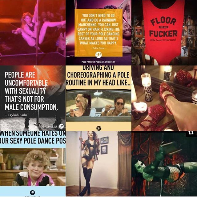 Golly that was fun! Here's to more interviews, memes, and sexy fun in 2018 ✨🖤✨ #2017bestnine #poleparlour
