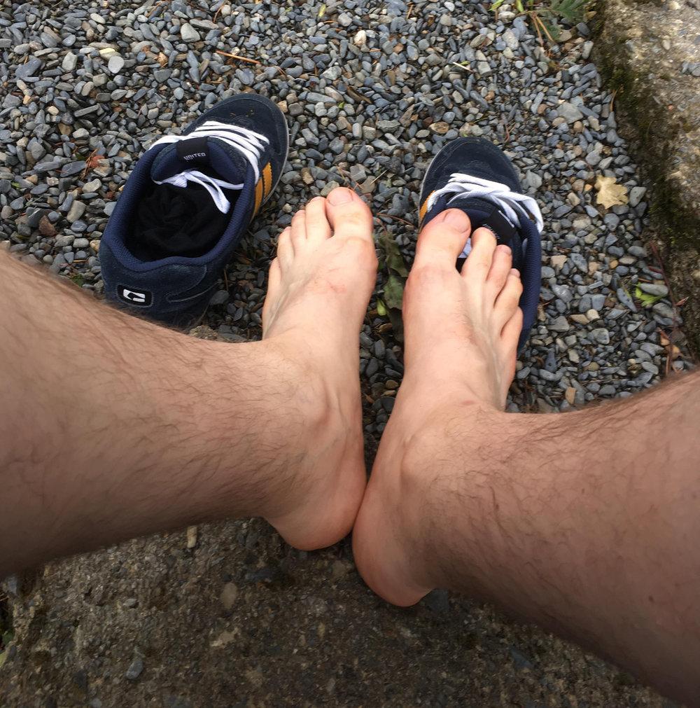 Natte voeten...
