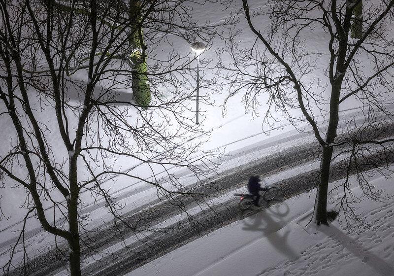 Snow lines… Groningen (Netherlands)