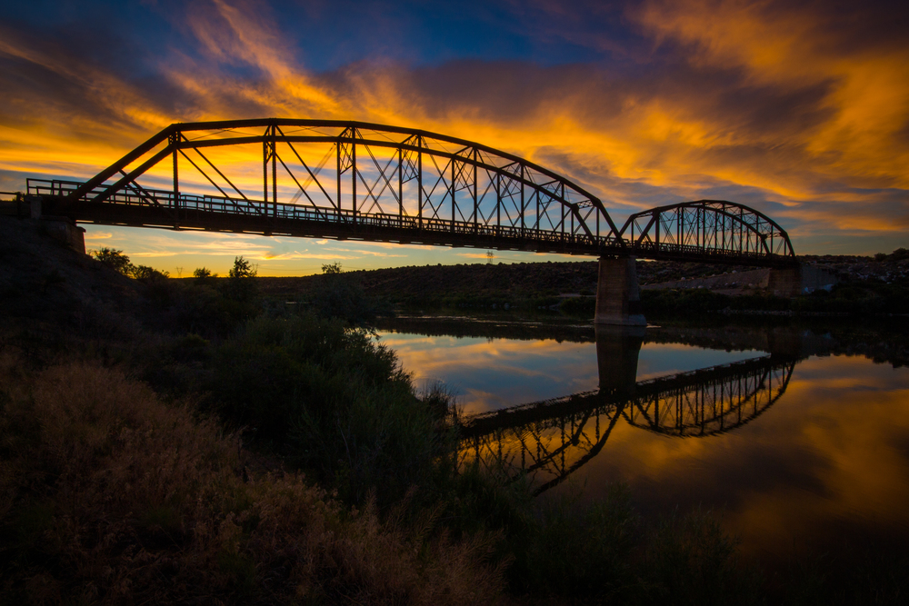 Guffey Railroad Bridge Sunset