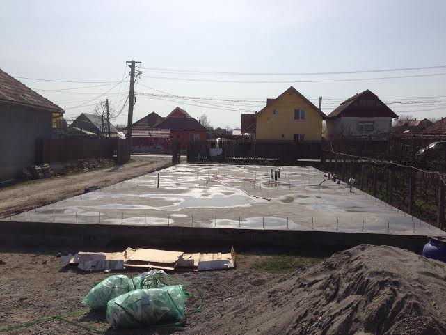 Foundation for the new building, awaiting our teams arrival.