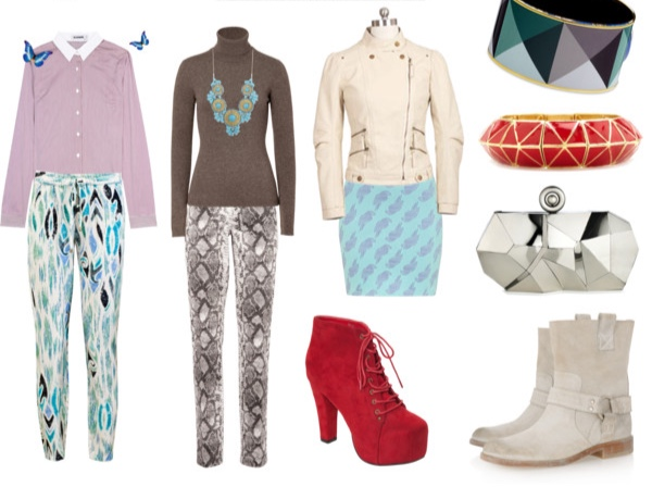 Various outfits in Light Summer colors for the Pixie Image Archetype.