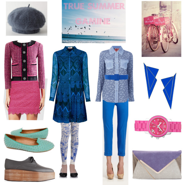 Miscellaneous outfits in True Summer colors for the Pixie Image Archetype.