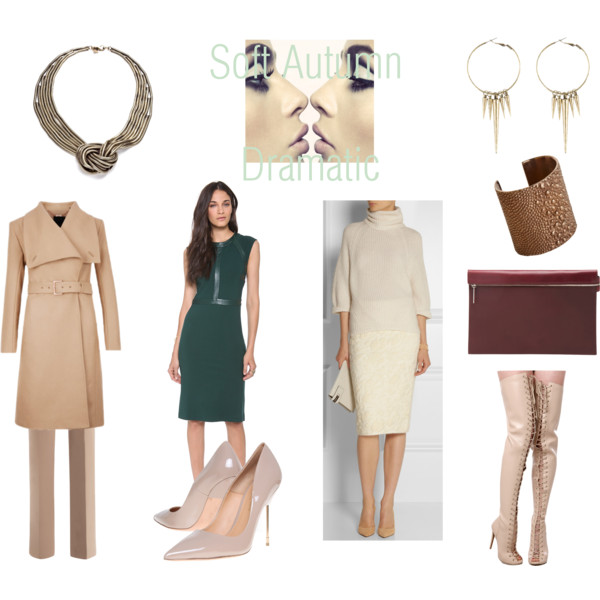 Miscellaneous outfits in Soft Autumn colors for the Queen Image Archetype.
