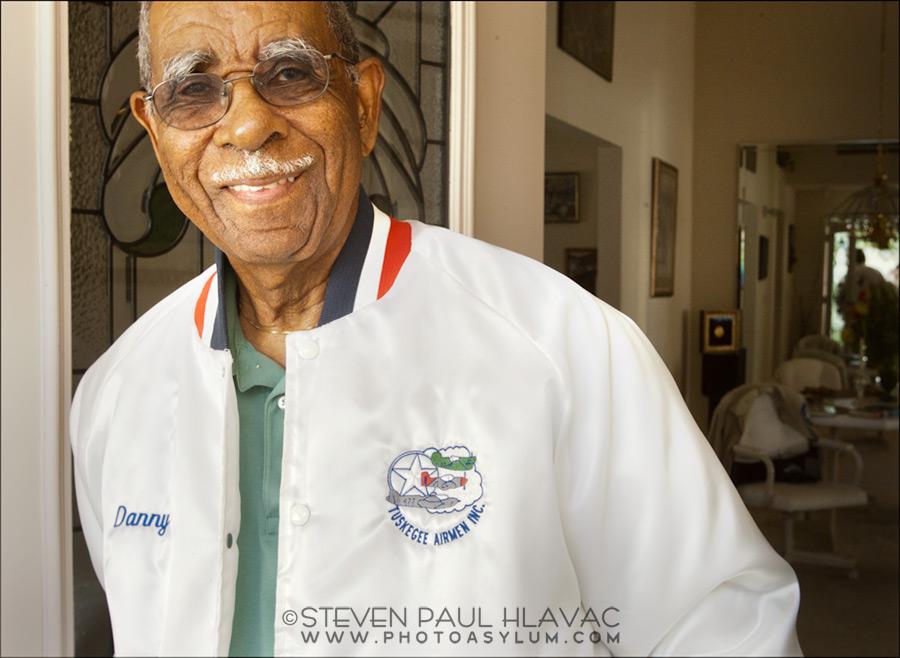 Tuskegee Airmen member Daniel Keel at his home in Clermont, Florida, November 2011. ©Steven Paul Hlavac.