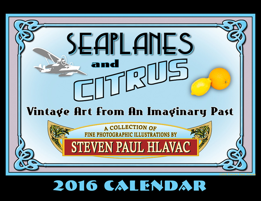 The 2016 Seaplanes and Citrus calendar documents my foray into photographic illustration. It combines my love of vintage product posters and labeling with my somewhat offbeat sense of humor, each piece a parody of older styles of advertising.