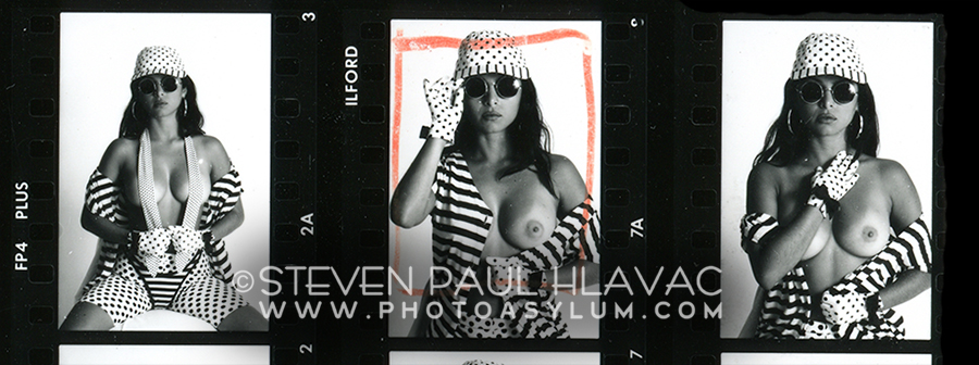 Miami Beach, 1994. Working with professional model Maria Checa finally allowed my photos of The Pattern Pinups. to match the vision in my head. Sure, she was beautiful and sexy, and I won't say the shoot wasn't enjoyable, but my mood was definitely professional and business-like. It needed to be.