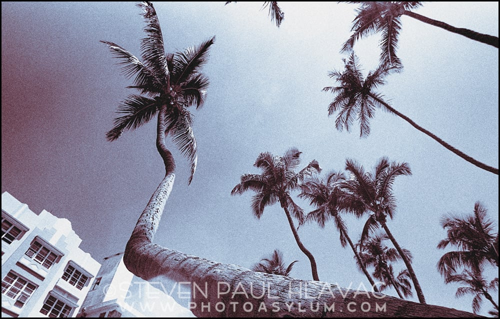 "Originally shot on film in the late 1980s and early-to-mid 1990s, my South Beach Tropical Art Deco gallery series is another example of older work that has absolutely found new and exciting life due to my ability to edit the images on a computer. Above: ""Wide Palms' ©1996-2015 Steven Paul Hlavac."