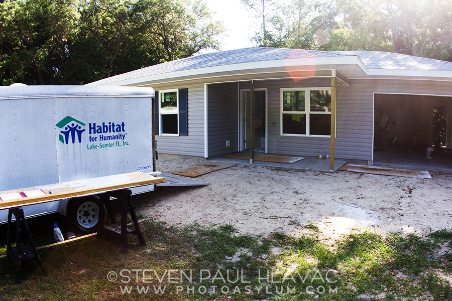 One of my publicity shots for the Habitat for Humanity build in Mount Dora, Florida in April 2015. ©2015 Steven Paul Hlavac.