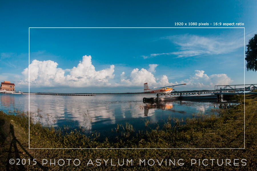 One of the frames from a time lapse I shot at Wooton Park in Tavares, The original was a RAW file, and you can see the markings where I plan to crop it down to a Full HD aspect ratio. And yes, cropping out the shadow from my tripod! Florida. ©2015 Steven Paul Hlavac/Photo Asylum Moving Pictures.