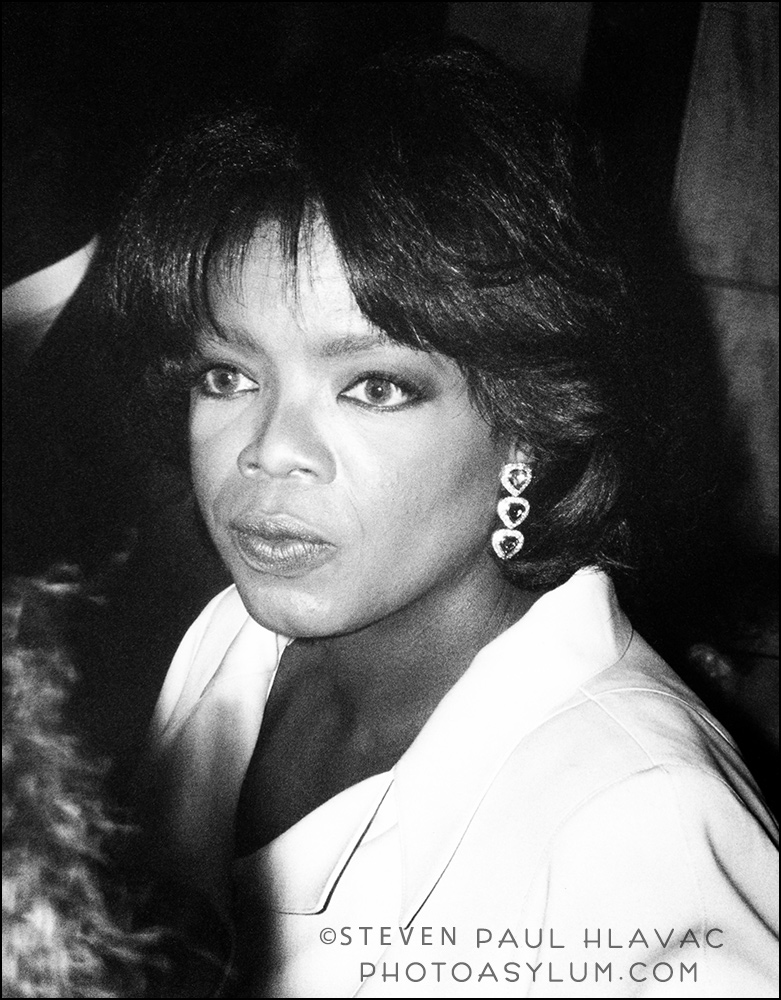 "Oprah Winfrey in downtown Miami, 1993. I was using a ""normal"" lens, so yeah, I was close."