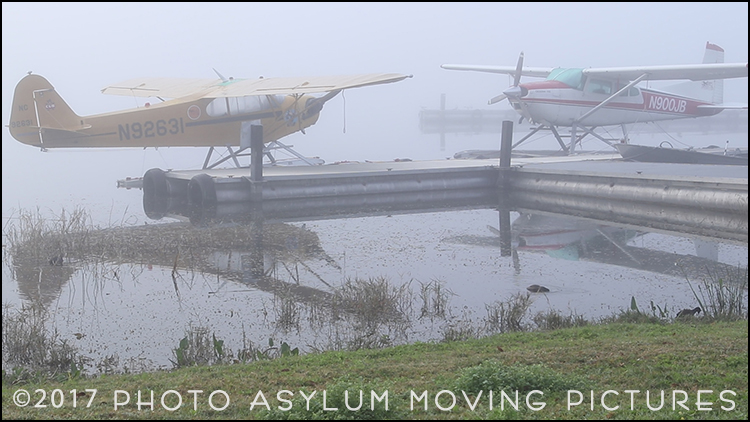 Fog has a way of shrouding nearly everything in mystery, but this scene of 'parked' planes on the water was especially surreal. Screenshot ©Photo Asylum Moving Pictures/Steven Paul Hlavac. All Rights Reserved.