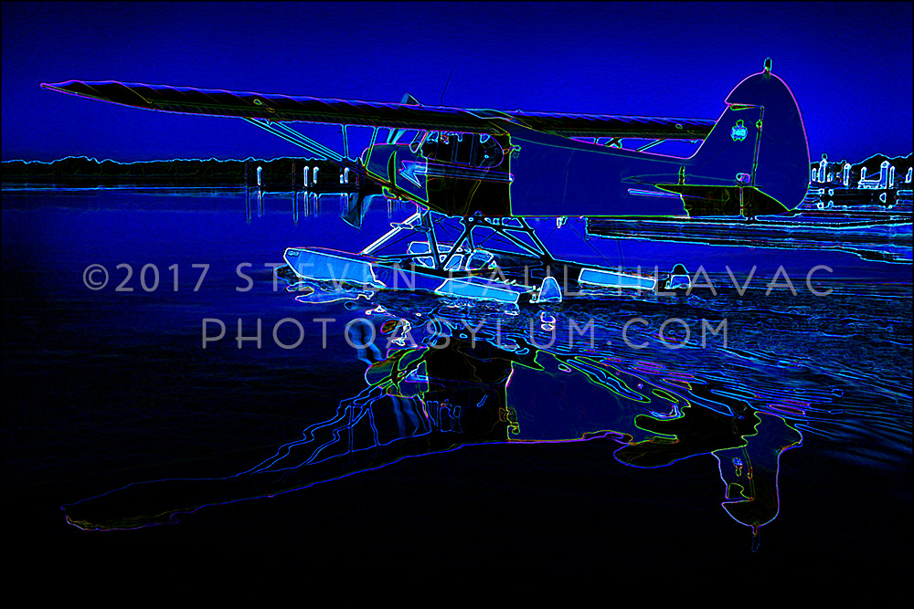 Florida Seaplane Piper No. 17 Blue Tone Line