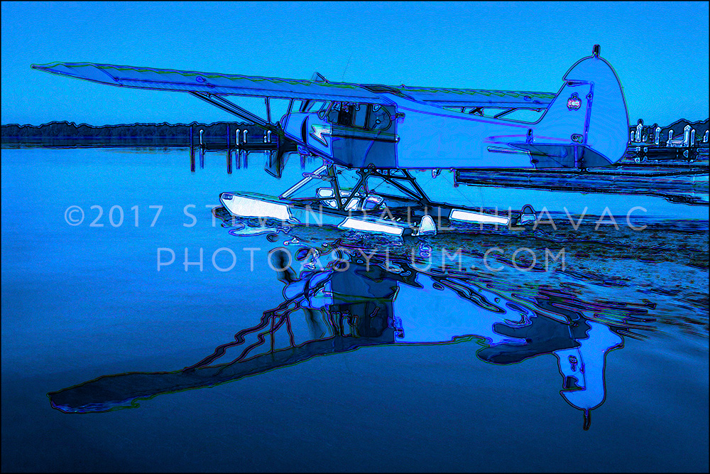 Florida Seaplane No. 17 Piper Light Blue Tone Line