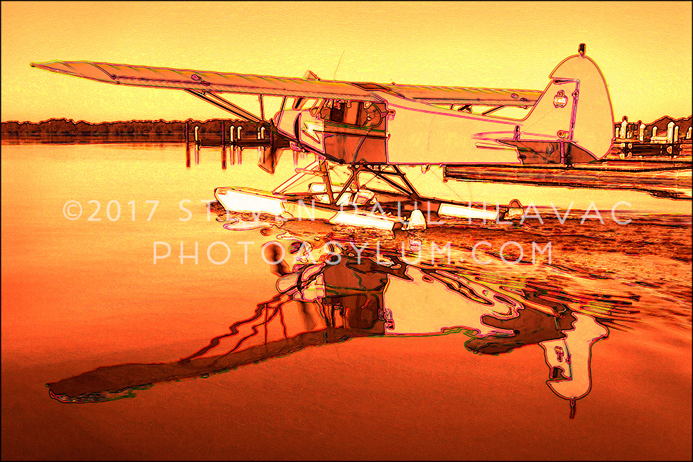 Florida Seaplane Piper No. 17 Orange Tone Line