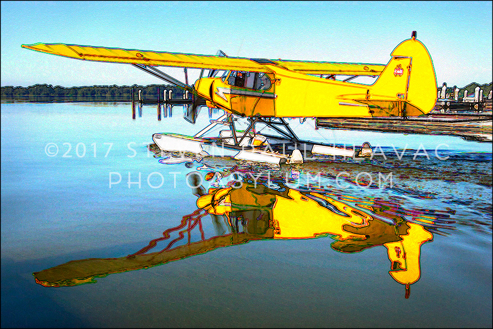 Florida Seaplane Piper No. 17 Yellow Tone Line