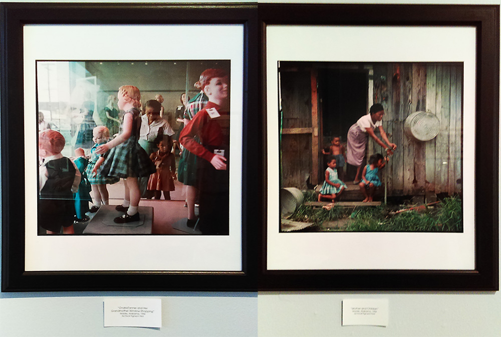 Two of Gordon Park's photos on display at the Mount Dora Center for the Arts. Images ©The Gordon Parks Foundation.