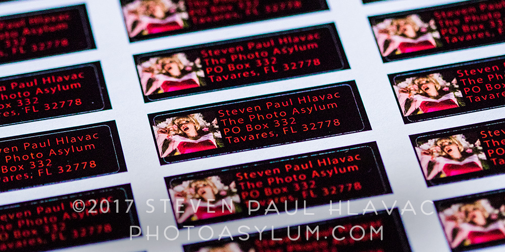 Custom return address labels, in this case from Zazzle, were a no-brainer. ©Steven Paul Hlavac. All Rights Reserved.