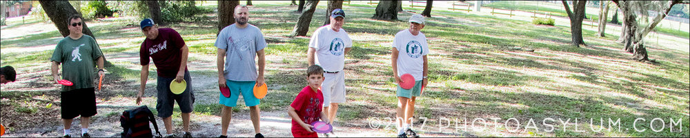 Disc golfers having at it at Lincoln Avenue Park, Mount Dora, Florida. ©Steven Paul Hlavac. All rights reserved.