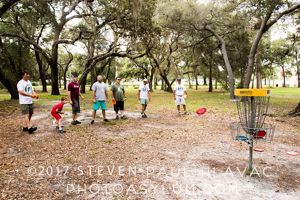 As you might expect, the goal of Disc Golf is to get the disc in the basket in as few throws as possible. Lincoln Avenue Park, Mount Dora. ©Steven Paul Hlavac. All rights reserved.