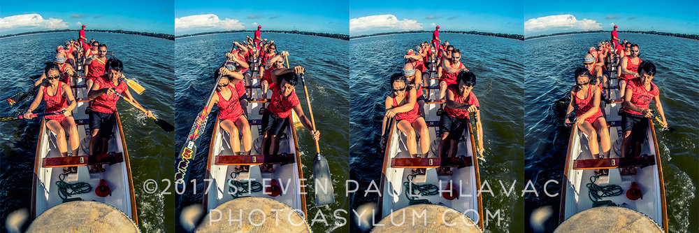 The  Wun Fun Cru  knows when to get down to work. Under the guidance of organizer  Grace Genetia  (front left), the team puts in a hard morning of training on  Lake Dora . ©Steven Paul Hlavac. All rights reserved.
