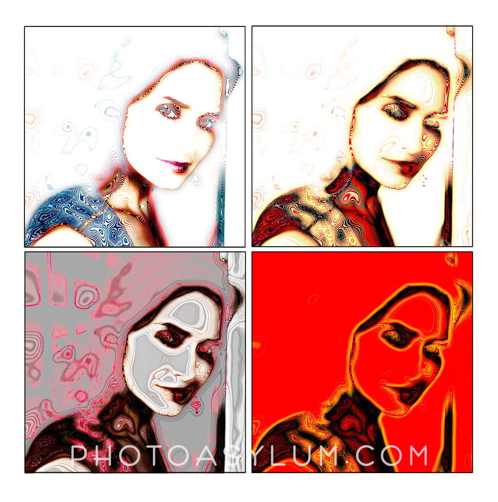 The original portrait of actress Tanya Memme in 2007 was not a paparazzi shot, but these abstract variations are done in a style that will be similar to the work in 'South Beach Poparazzi'. ©Steven Paul Hlavac. All rights reserved.