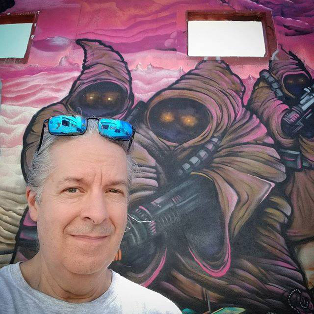An obligatory selfie in front of a fantastic Star Wars mural in Wynwwod. ©Steven Paul Hlavac. All rights reserved.