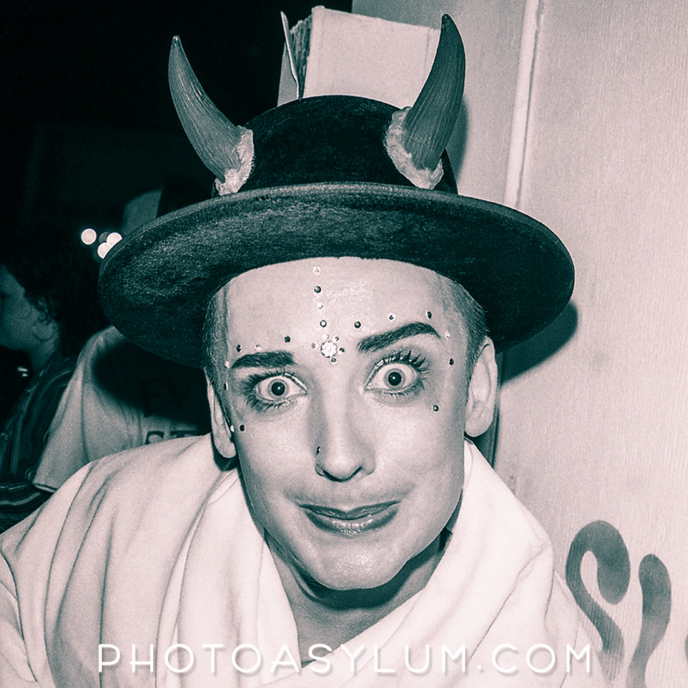 George Alan O'Dowd, aka Boy George, after performing at Club Warsaw, Miami Beach, early 1990s. ©Steven Paul Hlavac. All rights reserved.