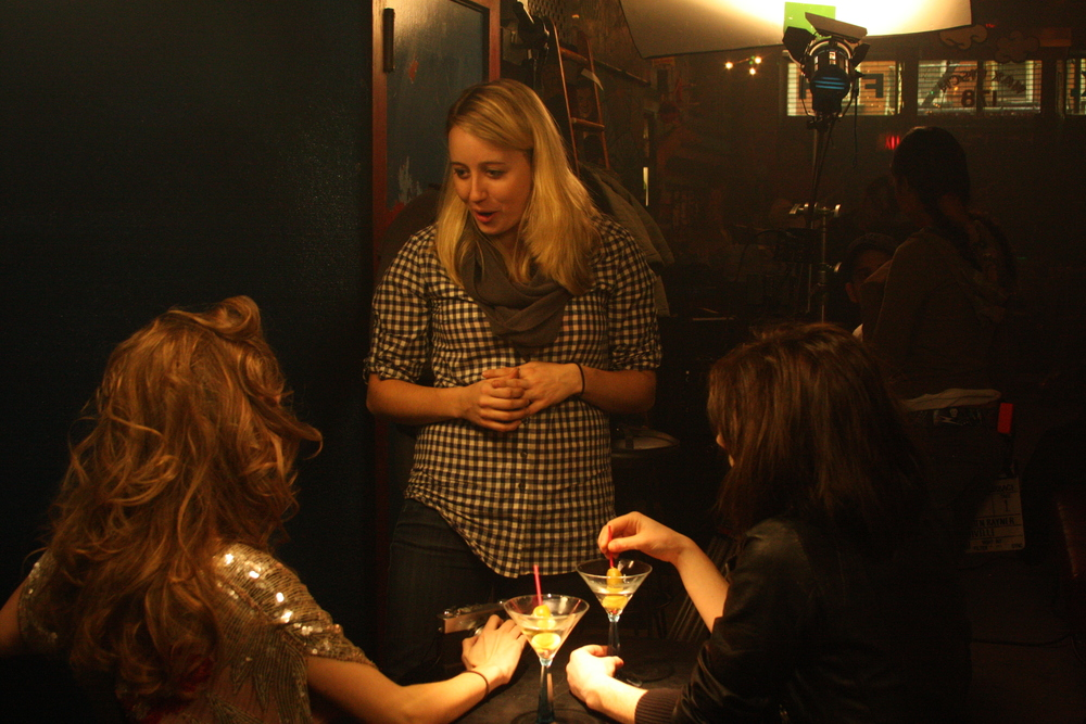 Lauren on set directing    Beautiful Garbage    in the legendary bar 'Max Fish' in the East Village (2011)