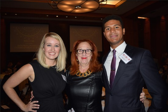 Brooklyn Entertainment & Sports Law Society (BESLS) co-president Lauren Rayner Davis, keynote speaker Marla Allard, and co-president Vaughn Bobb-Willis. Photo credit: Rob Abruzzese.
