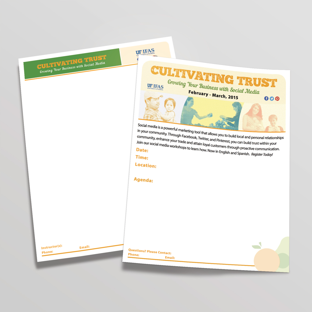 Letterhead and customizable flyer