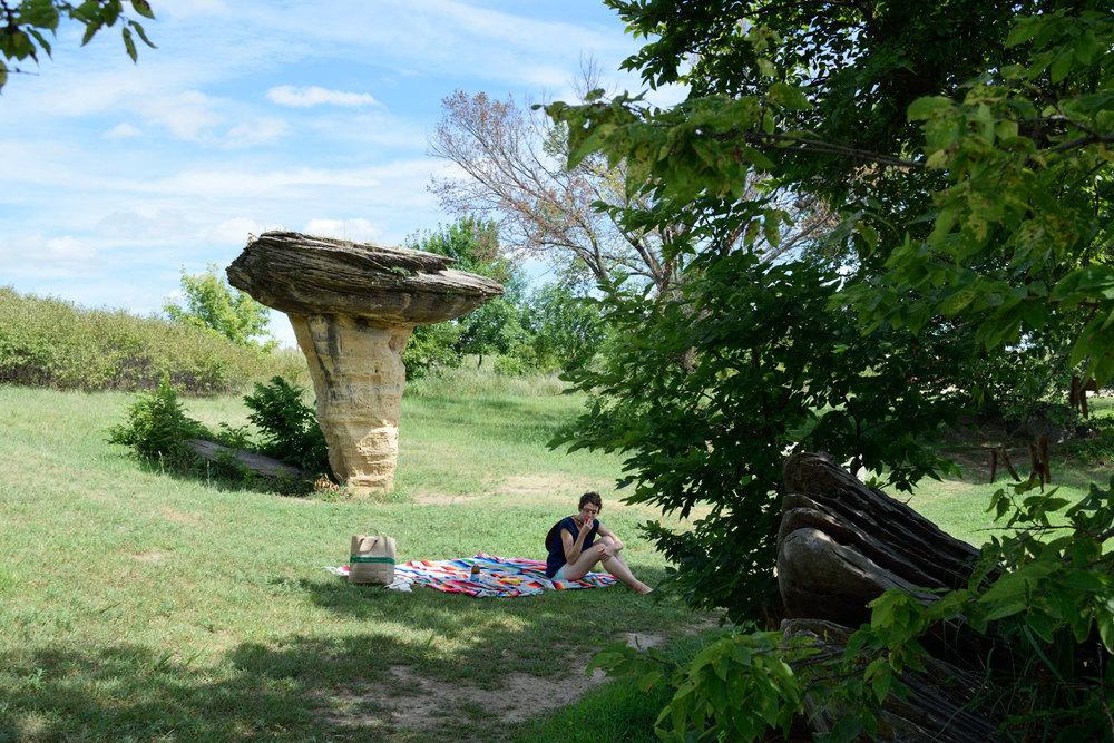 Picnic at Mushroom Rock State Park