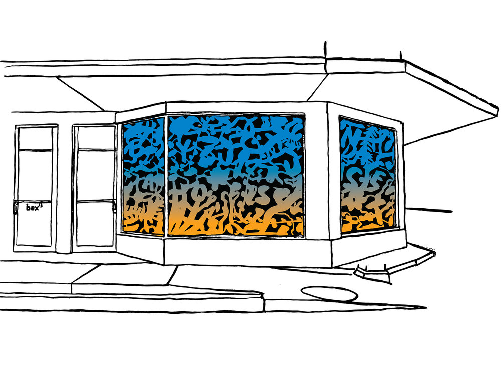 Bayou Light Proposal sketch 01, Window Gallery exterior