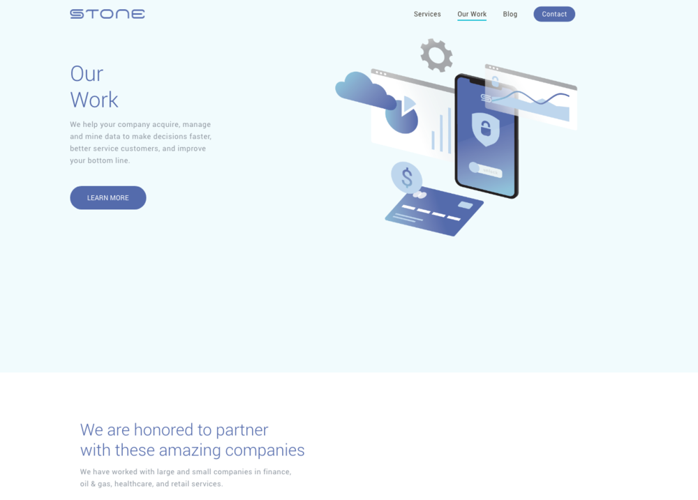New Work Landing Page