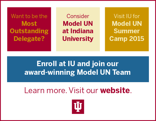 Website: Model UN at Indiana University