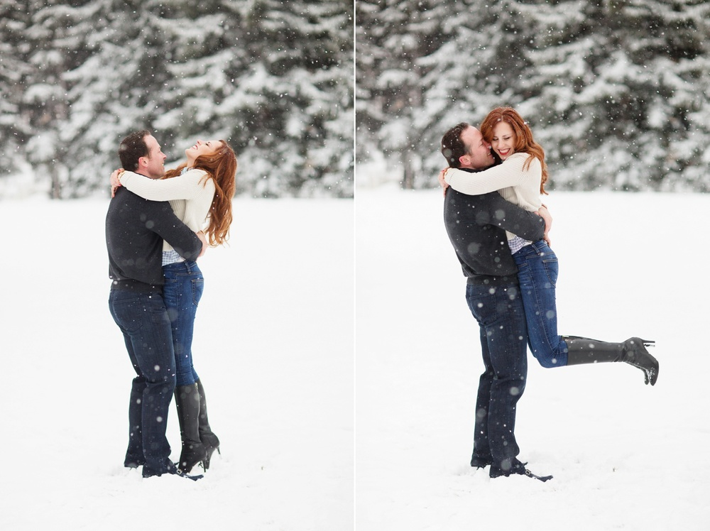 Snowy Aspen Engagement / Aspen wedding Photographer Cat Mayer Studio