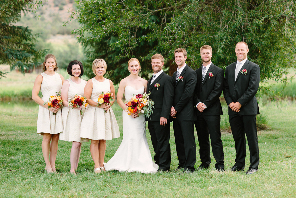 Bridesmaids and Groomsmen at Aspen wedding/ Aspen wedding photographer / www.catmayerstudio.com