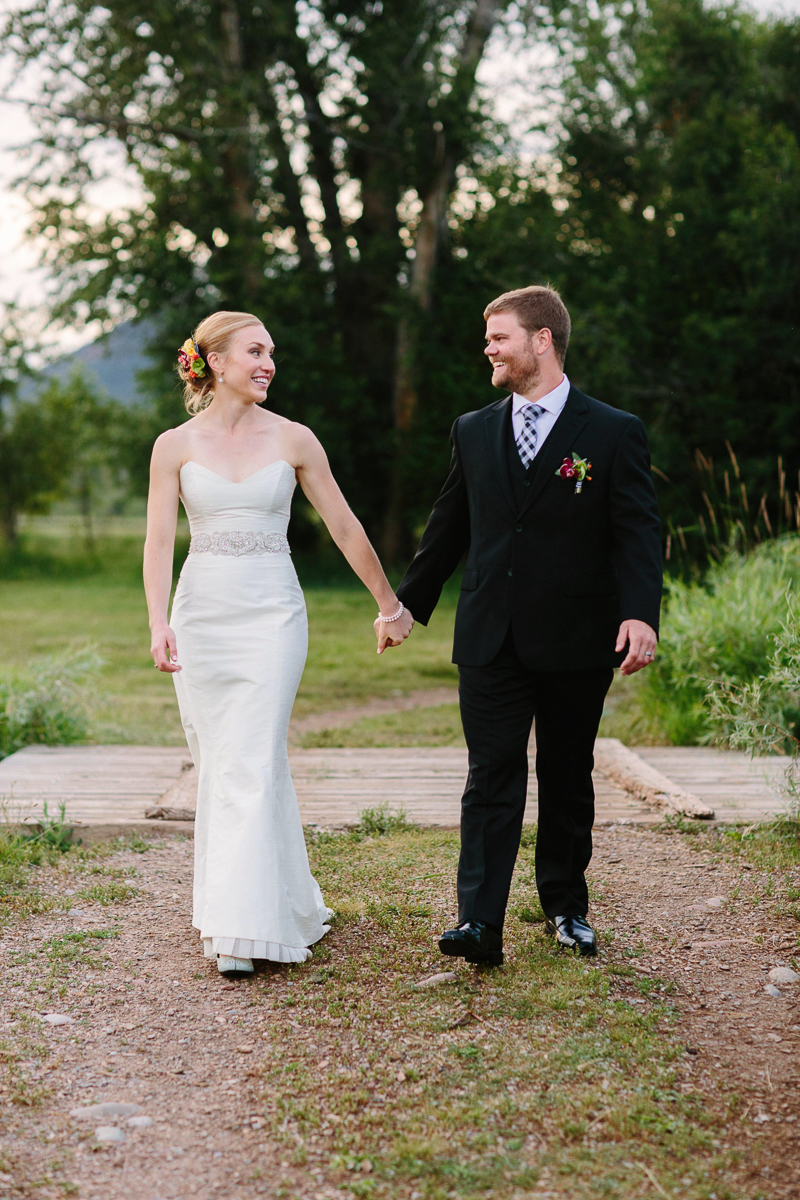 Aspen wedding bride and groom