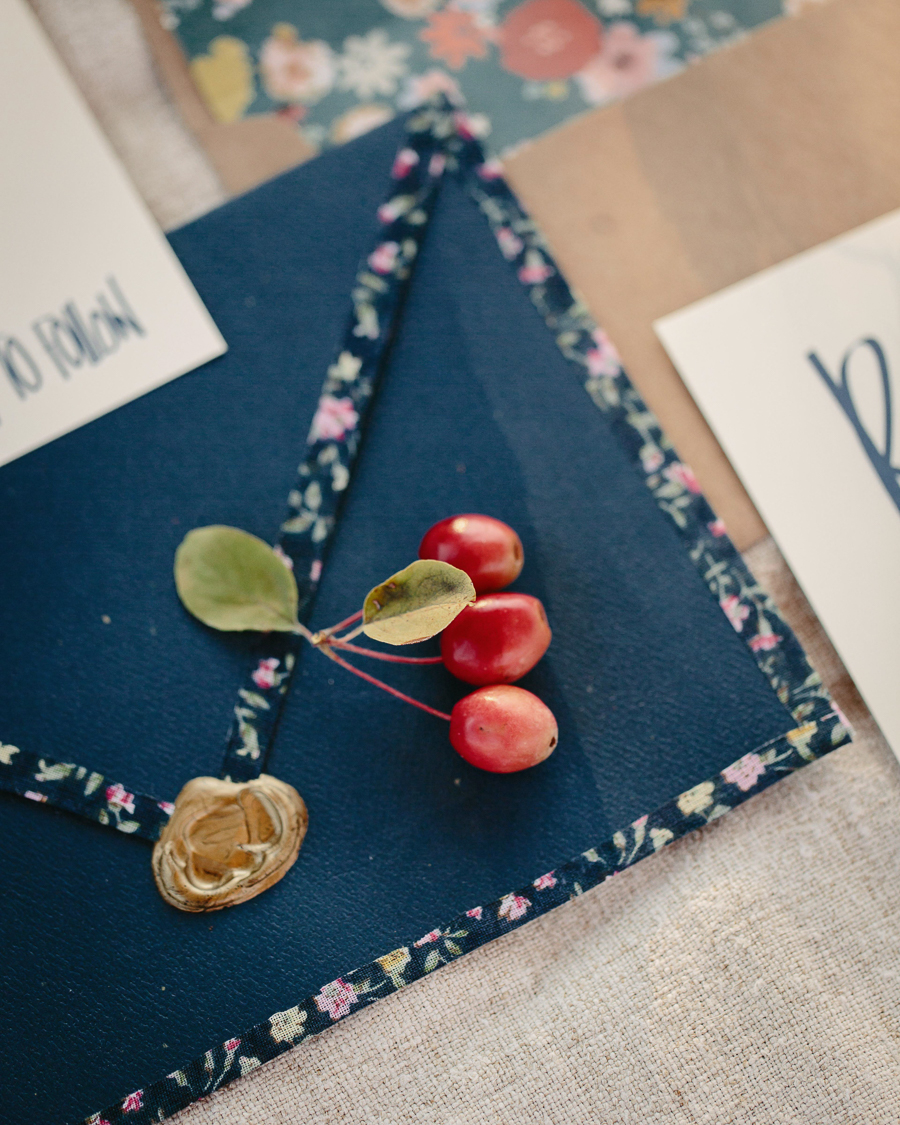 Grand Junction wedding invitation details / Photo by Cat Mayer Studio