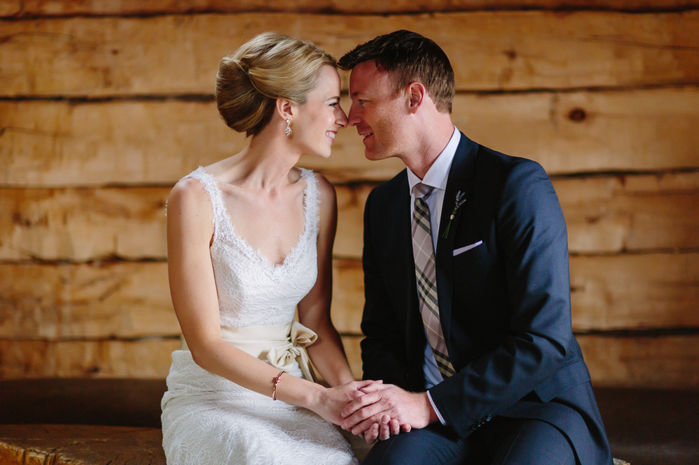 Bride and groom at Gorrono Ranch Saloon