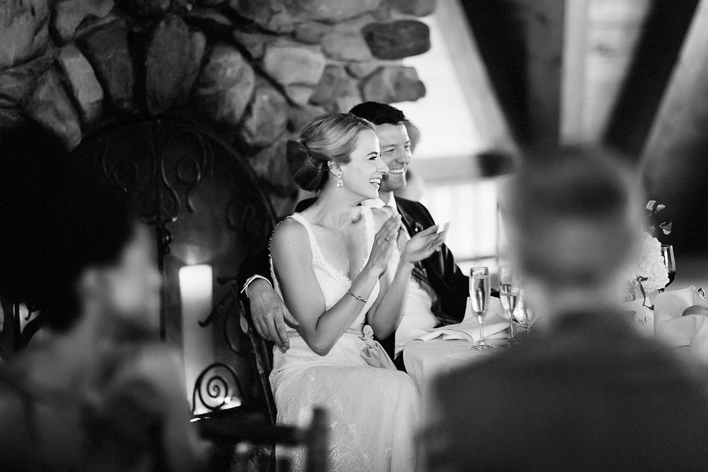 Bride and Groom smiling at Gorrono Ranch wedding / Cat Mayer Studio