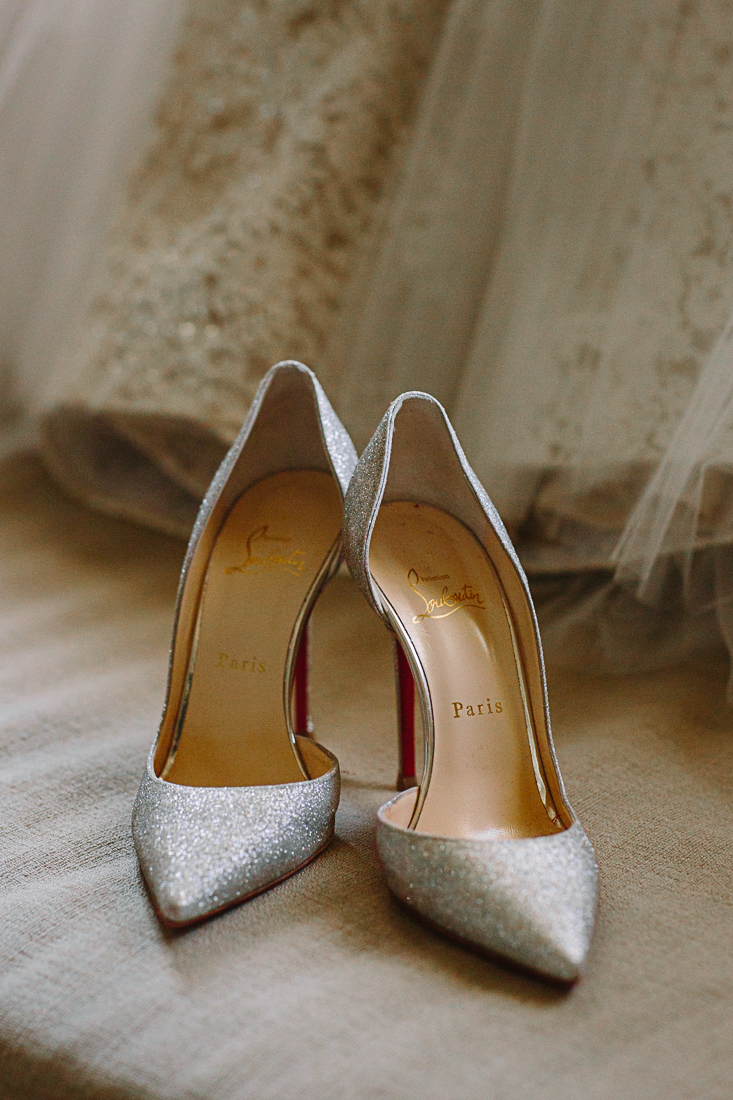 Bride's shoes by Christian Louboutin