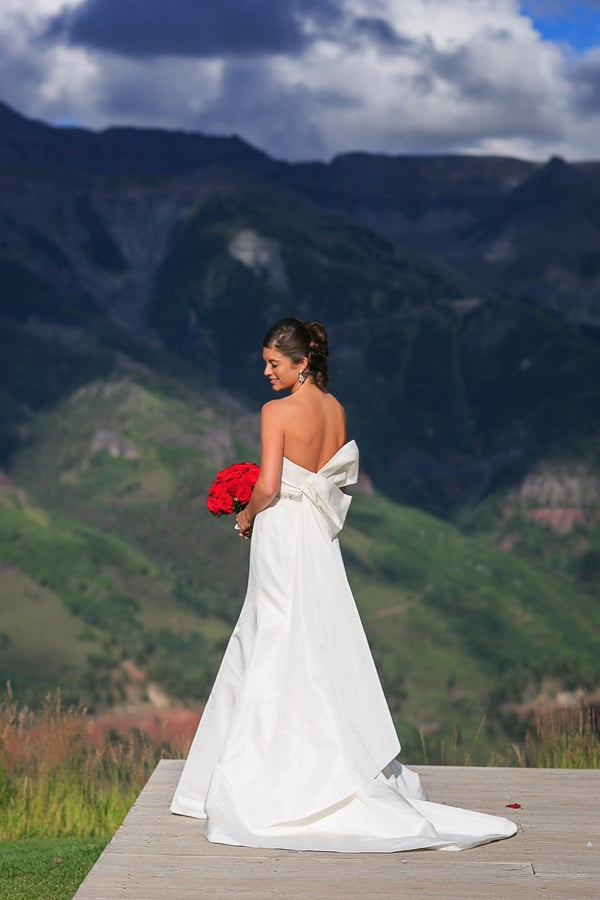 Bride at San Sophia Overlook / Telluride, Colorado / Cat Mayer Studio