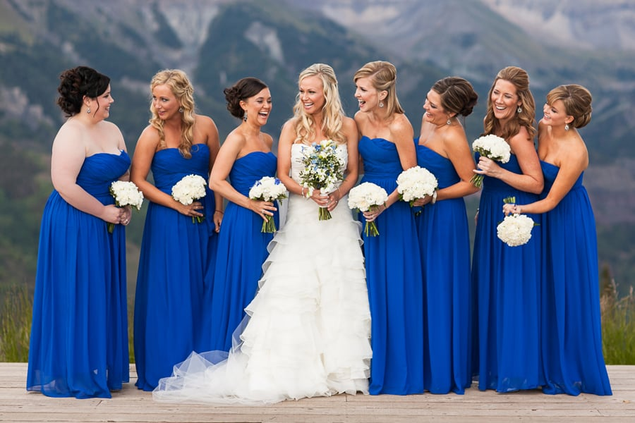 Blue bridesmaid dresses / San Sophia Overlook, Telluride / Cat Mayer Studio